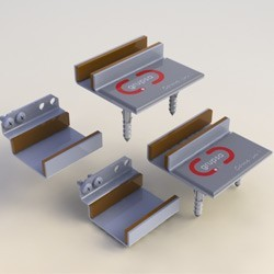 Kit Telescopic Floor Rail Frame and Basic