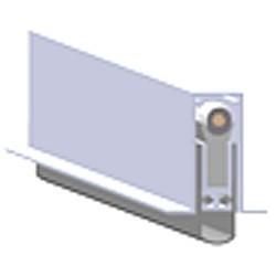 Burlete Planet FT hermético inferior para puertas batientes HS-202B